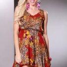 Damask Print Dress SZ L