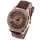 Arabic numbers and round dial watch