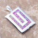 Pink Fire Opal Silver Pendant