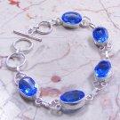 Blue Topaz Bracelet in Silver
