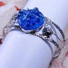 Dichoric Glass Bracelet in Silver