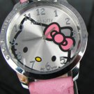 Big Dial Ladies HelloKitty Quartz Wristwatch Light Pink Band