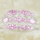 Sterling Silver and Pink Kunzite Nestle Style Ring
