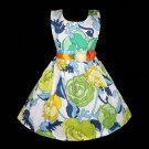 Spring Flowers Girl's Dress Size 6