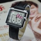 Square Dial Hello Kitty Watch- Black