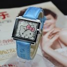 Square Dial Hello Kitty Watch- Light blue