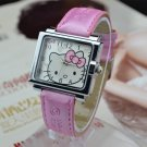 Square Dial Hello Kitty Watch- Light pink