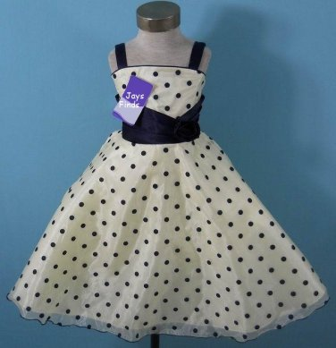 Polka Dot Pageant dress Girl's size 7-8