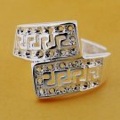 Zig Zag Filigree Ring Crafted in 925 Silver Size 8