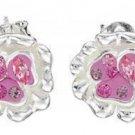 Genuine Crystal & Sterling Silver Earrings