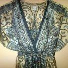 Paisley V-neck Empire Waist Tunic - Dress