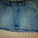 Distressed Denim mini Size 7