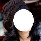 Crochet Beret style Beanie - Brown