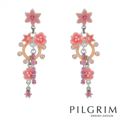 Genuine crystal and pearl earrings by Pilgrim Skanderborg, Denmark