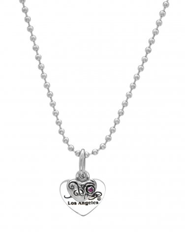 Ed Hardy Ruby Heart Necklace