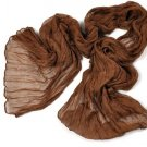 Crinkle Scarf - Brown