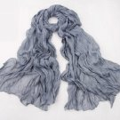 Crinkle Scarf - Gray