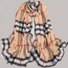 Ladies' Silky Plaid Scarf