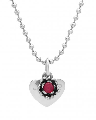 Ed Hardy Ruby Heart Necklace