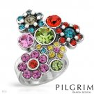 Pilgrim Skanderborg Ring With Genuine Multi Colored Crystals