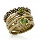 4 Rings in one - Genuine Crystals by: Pilgrim Skanderborg Denmark