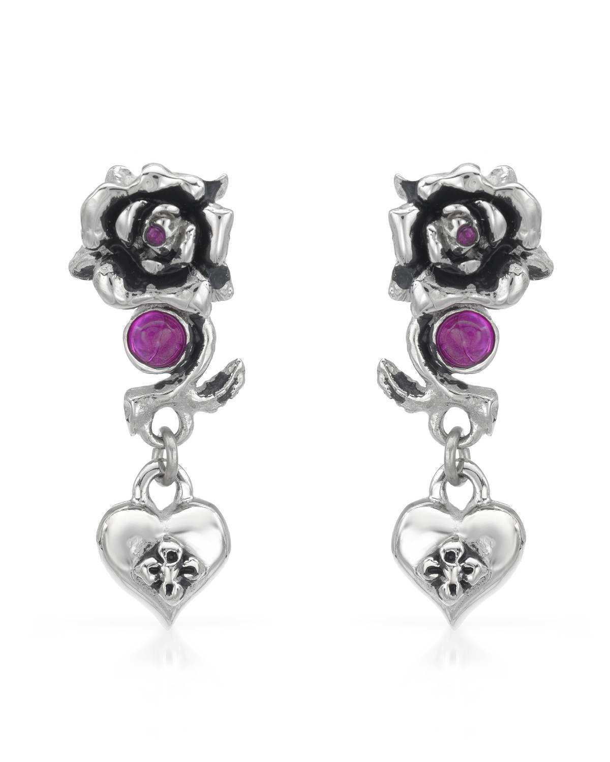Ed Hardy Classic Pink Tall Woman Perfume: Ruby & Heart Earrings By Ed Hardy