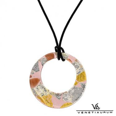 Murano Glass Pendant and Necklace Made by: Venetiarum