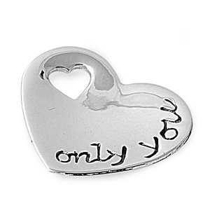 """Sterling Silver """"Only You"""" Heart Pendant"""