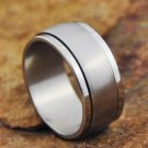 Brushed Staineless Steel Spinner Ring Size 10.25