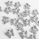 10 Pc. Silver Butterfly Charms