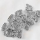 10 Pc. Big Silver Butterfly Charms