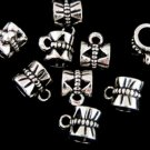10 Pc. Set of Silver Bow Style Tibetan Bails