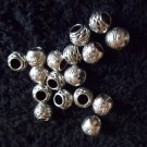 8 Pc. Set of Silver Round Spacer Beads