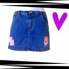 Lilly Pulitzer Denim Mini Skirt Size 12