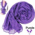 Purple-Violet Crinkle Scarf