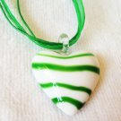 Murano Glass Heartshaped Pendant & Necklace