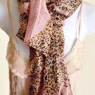 Pink Zebra & Leopard Print Scarf