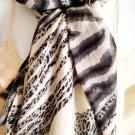 Zebra & Leopard Print Scarf