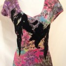 V Neck Multi Colored T-shirt - by: Eyelash Couture