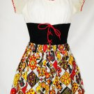 True Vintage 60's Mod-Floral Empire Corset Mini Dress