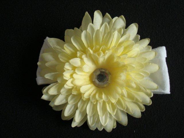 Sophia/Yellow boutique flower headband