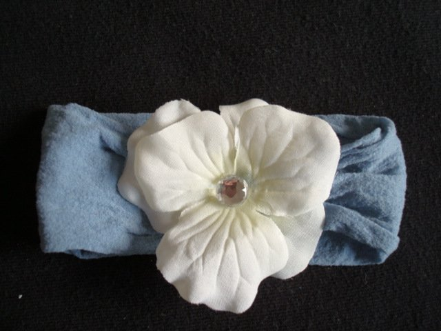 Ali/Cream flower on Denim Color Band