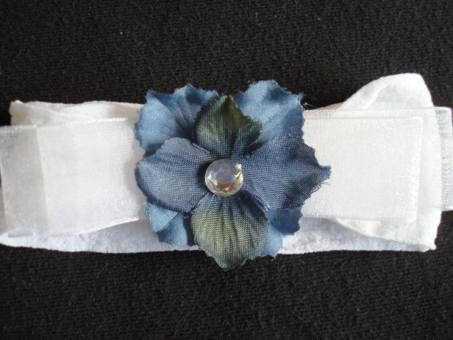 Chelsea BOW/Blue on White Band