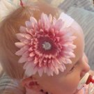 Sophia/Pink boutique flower headband