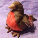 """1998 """"Early"""" Robin Original TY Plush Beanie Baby With Tag Retired Spring Bird"""