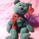 Ty Beanie Babies Baby Wallace The Green Terry Scottish Bear 1999