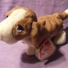 """1998 """"Tracker"""" The Basset Original TY Plush Beanie Baby With Tag"""
