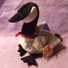 Ty Original Beanie BabyLoosy Gray Canadian Goose Black White March 29 1998