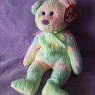 TY Beanie Baby Groovy the Pastel Multi Color Bear