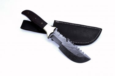 Full Tang Custom HandMade Bowie Damascus Blade Hunting Knife